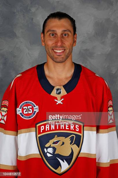 Goaltender Roberto Luongo of the Florida Panthers poses for his official headshot for the 20182019 season on September 13 2018 at the BBT Center in...