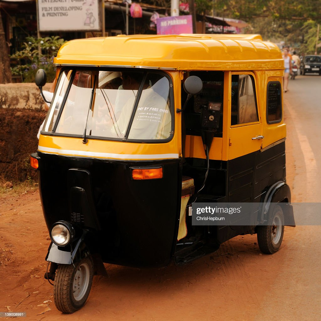 Goan Tuck-Tuck Taxi : Stock Photo