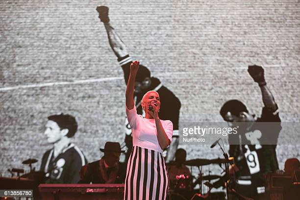 Goapele a soul and RampB singersongwriter performed at Harry Belafonte's Many Rivers Music Art amp Social Justice festival a twoday event with a...