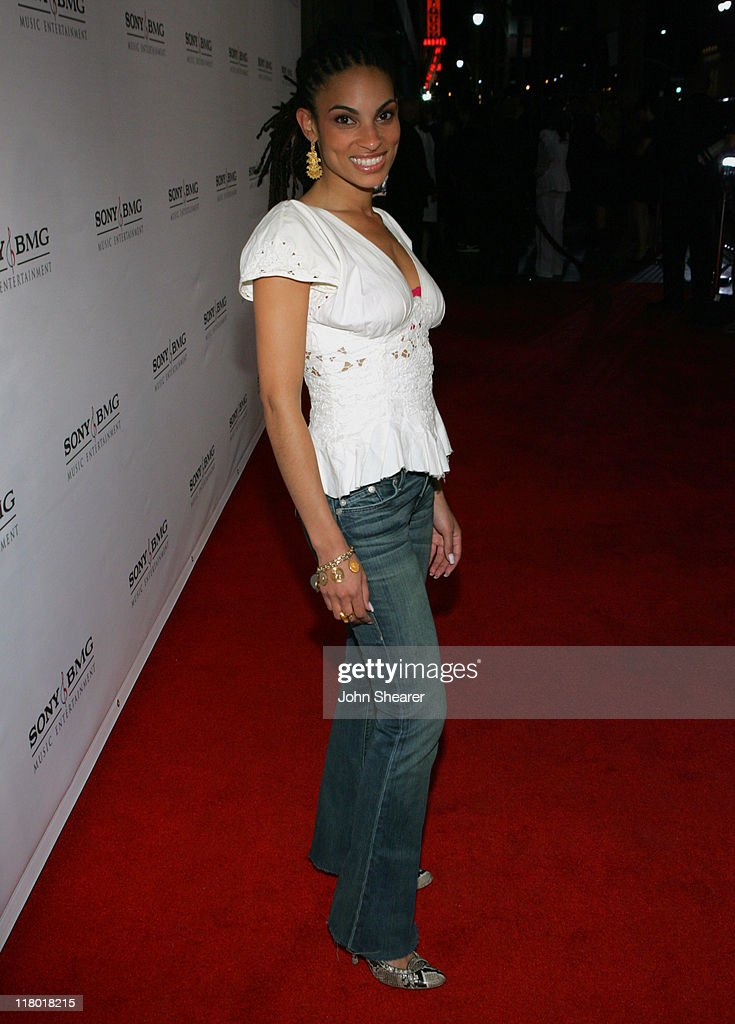 Goapele during 2006 Sony/BMG GRAMMY After Party - Red Carpet at Roosevelt Hotel in Hollywood, California, United States.