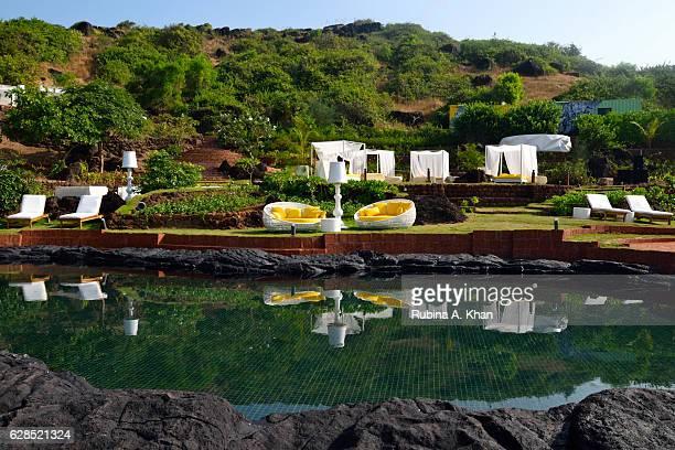 Goa's Rock Pool at W Goa on December 8 2016 in Goa India