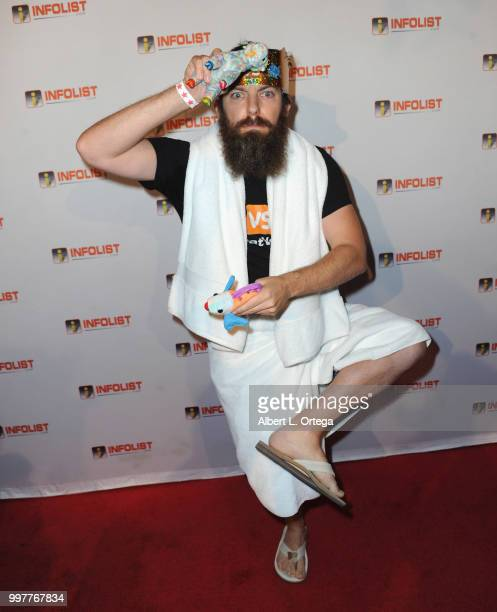 Goat vs Fish arrives for the INFOLISTcom's Annual PreComicCon Party held at OHM Nightclub on July 12 2018 in Hollywood California