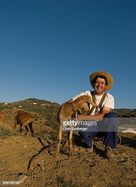 Goatherd in the Andalucia Area of Spain