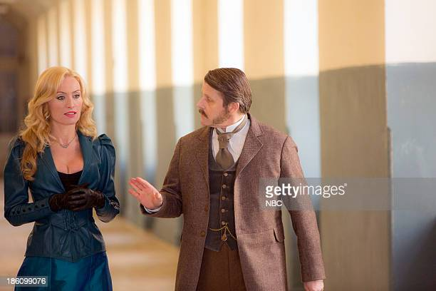 DRACULA Goblin Merchant Men Episode 103 Pictured Victoria Smurfit as Lady Jayne Wetherby Anthony Calf as Dr William Murray