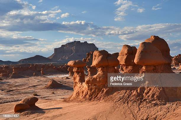 Goblin Valley and its delicate sandstone hoodoo formations.