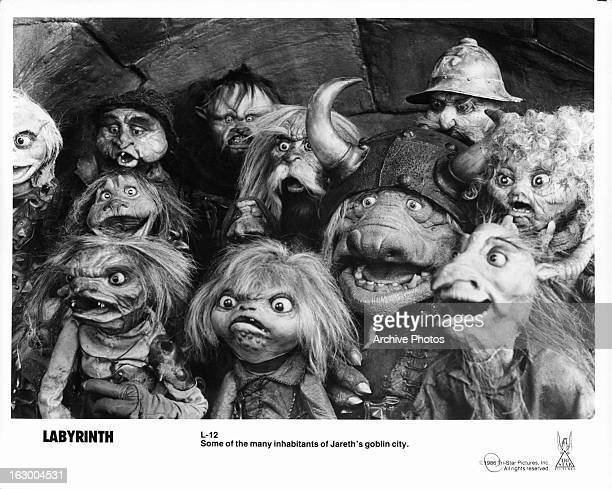 Goblins in a scene from the film 'Labyrinth' 1986