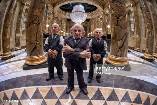 Goblins in the original Gringotts Wizarding Bank set at Warner Bros Studio Tour London in Watford Warner Bros Studio Tour London The Making of Harry...