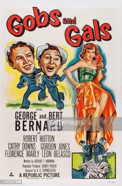 Gobs And Gals poster US poster art from left George Bernard Bert Bernard Florence Marly 1952