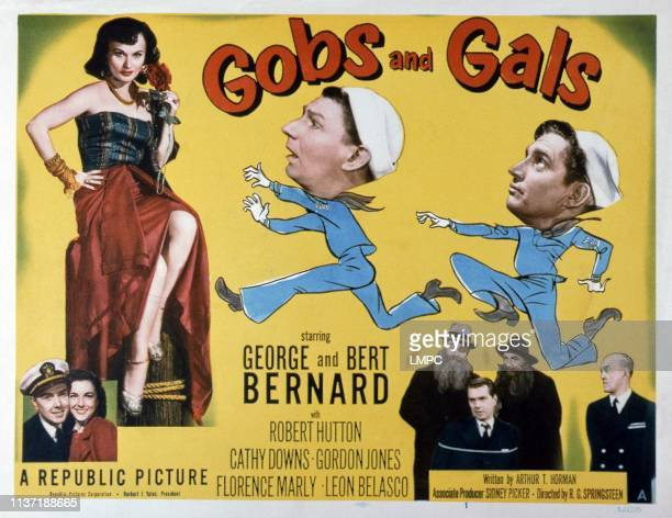 Gobs And Gals US lobbycard Florence Marly Cathy Downs George Bernard Bert Bernard 1952