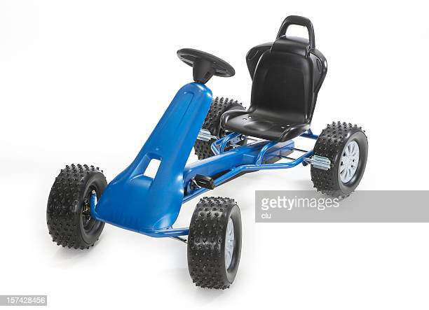 go-cart isolated on white studio shot - go cart stock pictures, royalty-free photos & images