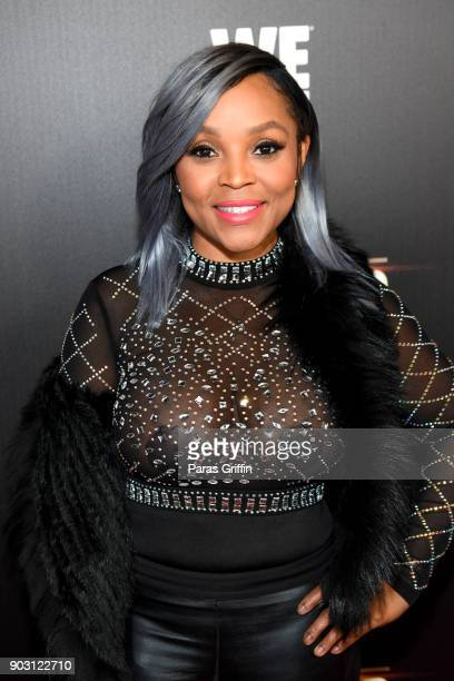 Gocha Hawkins attends 'Growing Up Hip Hop Atlanta' season 2 premiere party at Woodruff Arts Center on January 9 2018 in Atlanta Georgia