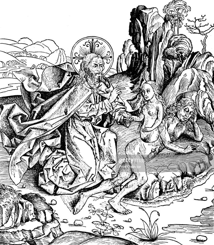 God Creating Eve From Adam's Rib, 1493. Having Created The