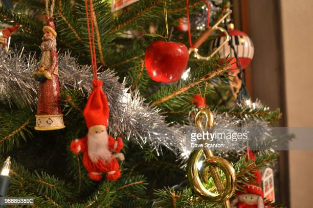 god jul - spruce tree stock pictures, royalty-free photos & images