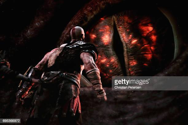 'God of War' for the PS4 is revealed during the Sony Playstation E3 conference at the Shrine Auditorium on June 12 2017 in Los Angeles California The...