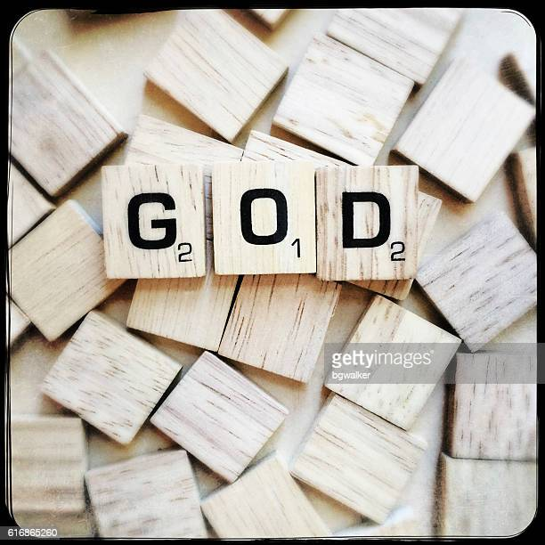 God Spelled with Scrabble Letters