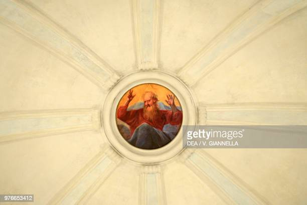 God the Father 17051707 painting by Antonio Cifrondi Chapel of the Holy Sepulcher Church of the Holy Sepulcher Astino abbey Bergamo Lombardy Italy...