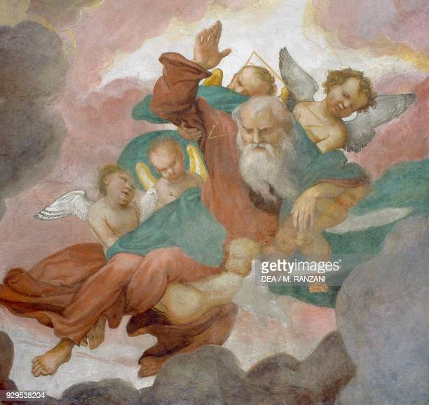 God the Father fresco by Lorenzo Lotto vault of the main chapel church of San Michele al Pozzo Bianco Bergamo Lombardy Italy 16th century