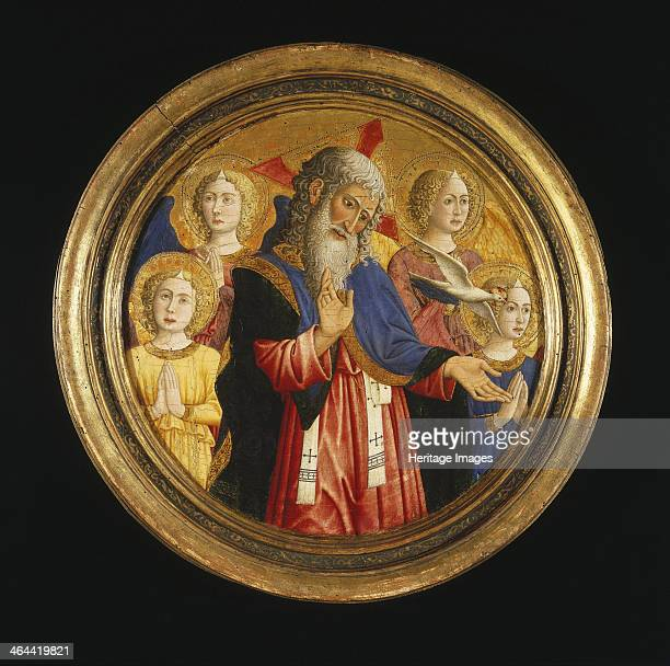 God the Father with Four Angels and the Dove of the Holy Spirit ca 1460 Found in the collection of the Brooklyn Museum New York