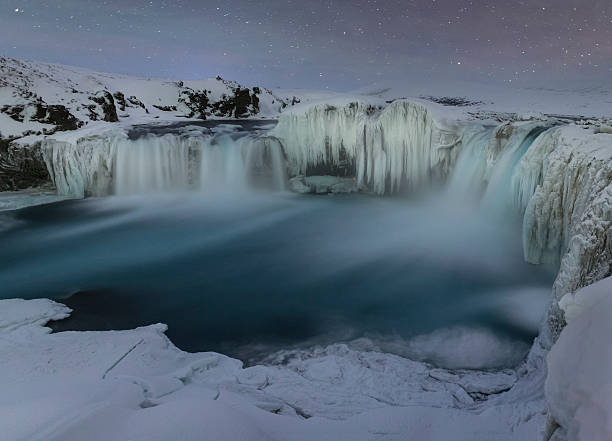 Godafoss at night, Myvatn, Iceland