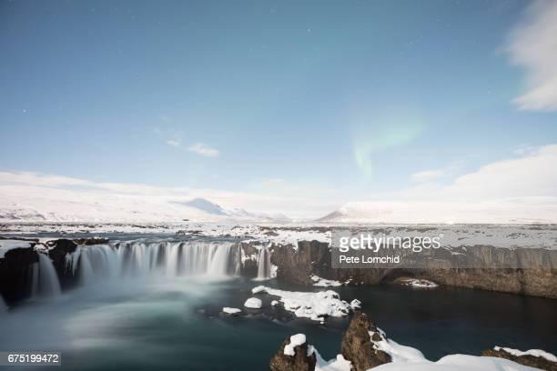 Godafoss aurora Iceland