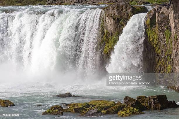 Godafoss, waterfall close up