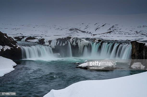 Godafoss, waterfall of the gods, North Iceland