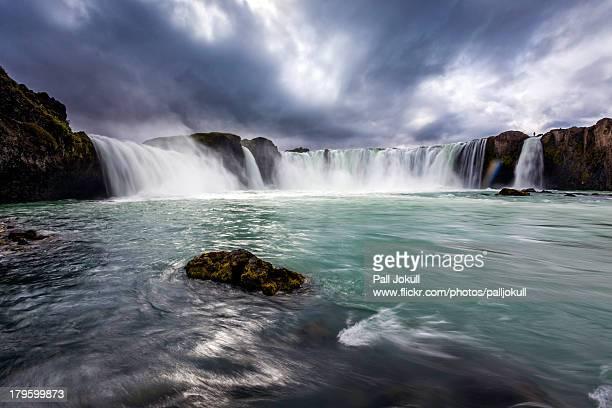 godafoss, waterfall of the gods - husavik stock photos and pictures