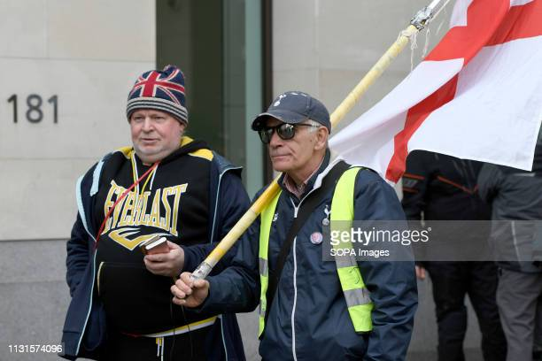 Godard's supporters are seen arriving at Westminster Magistrates Court Brexit protester and leading member of the Yellow Vest UK movement James...