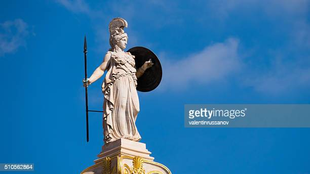 Goddess Athena in Athens, Greece - copy space