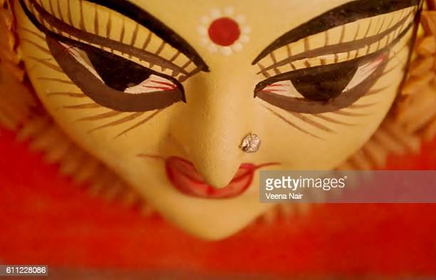 goddess durga-navaratri-durga puja-dussehra - durga stock photos and pictures