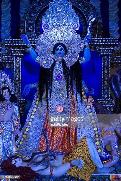 Goddess Kali Kali Puja Festival Kolkata West Bengal India