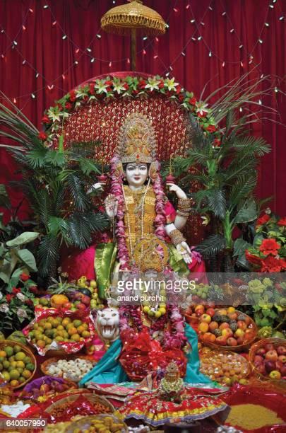 goddess maha lakshmi temple, ahmedabad, guajarat - goddess lakshmi stock photos and pictures