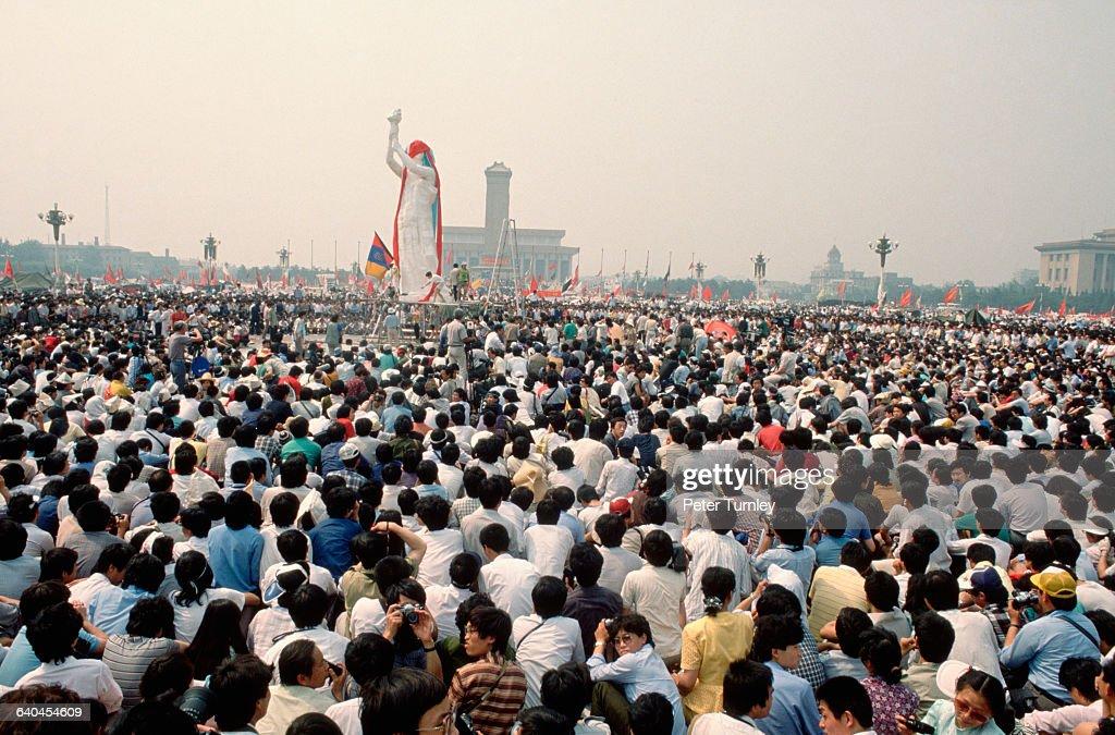 Goddess of Democracy in Tiananmen Square : News Photo