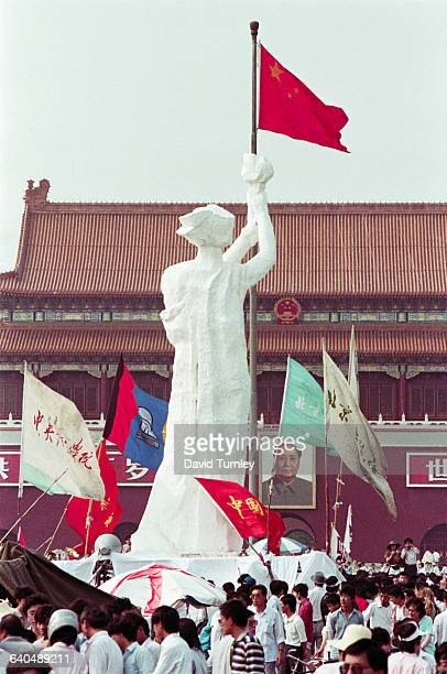 Goddess of Democracy Sculpture in Tiananmen Square
