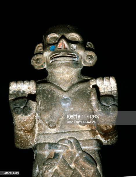 COATLICUE AZTEC goddess of the Earth stone sculpture dating from between 1300 and 1521 Preserved at Mexico's National Museum of Anthropology From the...
