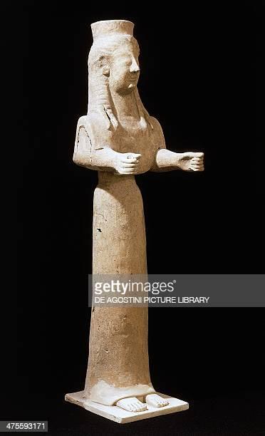Goddess statue terracotta Sanctuary of Persephone Mannella district Locri Calabria Italy Greek civilisation 5th century BC Reggio Di Calabria Museo...