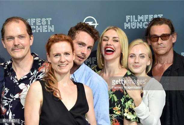 Godehard Giese, Isabella Bartdorff, Louis-Nicolai Nitsche, Johanna Ingelfinger, Elisa Schlott and Martin Feifel attend 'Das Verschwinden' Premiere...
