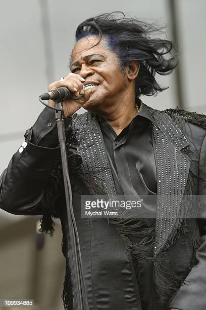 Godfather of Soul James Brown during The Godfather of Soul James Brown Performs at the Harlem State Office Building at Harlem State Office Building...