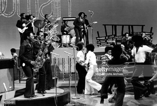 'Godfather of Soul' James Brown performs on the TV show 'Soul Train' in circa 1971