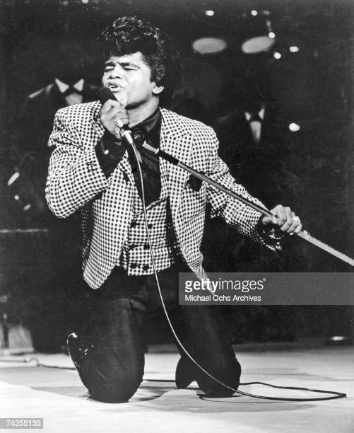 """Godfather of Soul"""" James Brown performs onstage at the TAMI Show on December 29, 1964 at the Santa Monica Civic Auditorium in Santa Monica,..."""