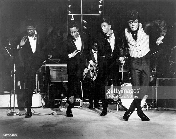 Godfather of Soul' James Brown performs onstage at the TAMI Show on December 29, 1964 at the Santa Monica Civic Auditorium in Santa Monica,...