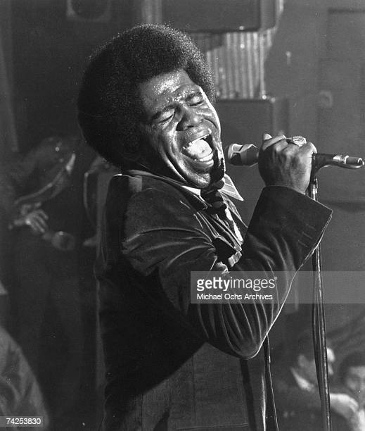 Godfather of Soul James Brown performs onstage in circa 1968