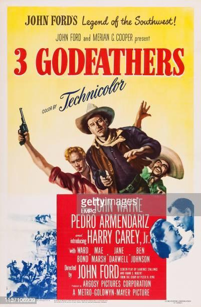 3 Godfathers poster US poster art from left Harry Carey Jr John Wayne Pedro Armendariz 1948