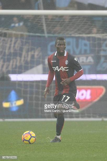 Godfred Donsah of Bologna FC in action during the serie A match between Spal and Bologna FC at Stadio Paolo Mazza on March 3, 2018 in Ferrara, Italy.
