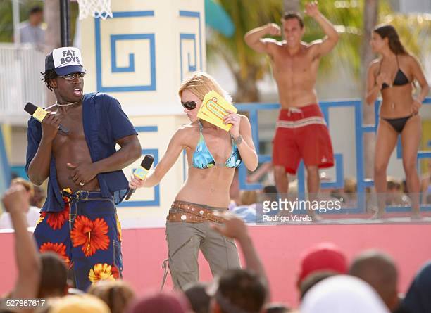 Godfrey and Jolene Blalock during MTV Spring Breake 2003 Full Body Search Miami in Miami Florida United States