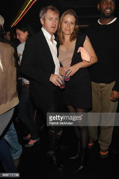 Godfrey Deaney and Kerstin Schneider attend ADIDAS Y3 by YOHJI YAMAMOTO V Magazine at hosted Dance Party at 301 WEST 39TH St on February 12 2004 in...
