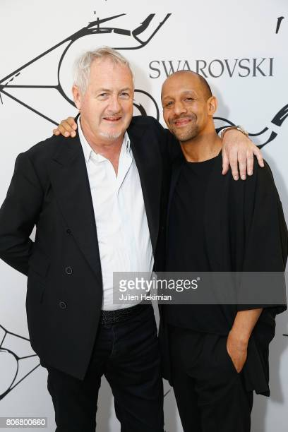 Godfrey Deeny and Bradly Dunn Klerk attend the Iris Van Herpen X Swarovski Cocktail Haute Couture Fall/Winter 20172018 show as part of Haute Couture...