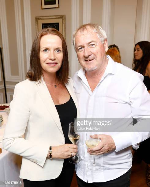 Godfrey Deeny and guest attend the Schiaparelli Cocktail to celebrate Daniel Roseberry first Haute Couture Collection as part of Paris Fashion Week...