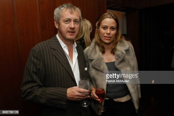 Godfrey Deeny and Kerstin Schneider attend Swarovski hosts the Proenza Schouler after party at The Hudson Hotel on February 11 2004 in New York City