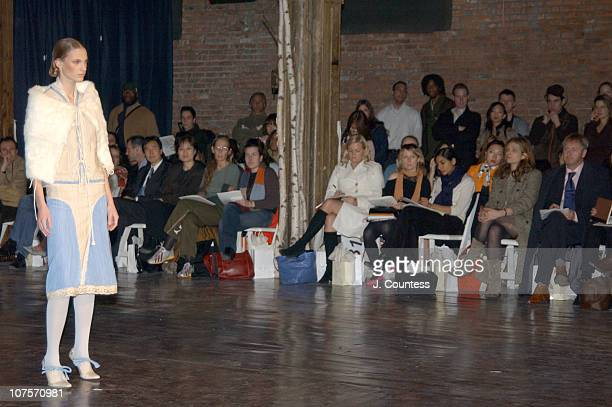 Godfrey Deeny during Olympus Fashion Week Fall 2004 - Sebastian Pons - Front Row at Angel Orensanz Foundation in New York City, New York, United...